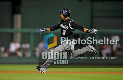 15 August 2008: Colorado Rockies' center fielder Willy Taveras steals second in the 7th inning against the Washington Nationals at Nationals Park in Washington, DC.  The Rockies edged out the Nationals 4-3, handing the last place Nationals their 8th consecutive loss. ..Mandatory Photo Credit: Ed Wolfstein Photo