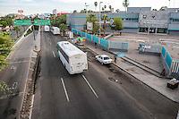 Hospital General de el Estado de Sonora y Puente peatonal