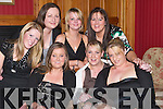 SOCIAL: Having a ball at the Castlegregory GAA Social at The Meadowlands Hotel, Tralee, on Saturday night were Anna Flynn, Mary O'Connor, Deirdre O'Connor, Noreen Cleary, Aoife Dowd, Lisa Maunsell and Shirley O'Driscoll..