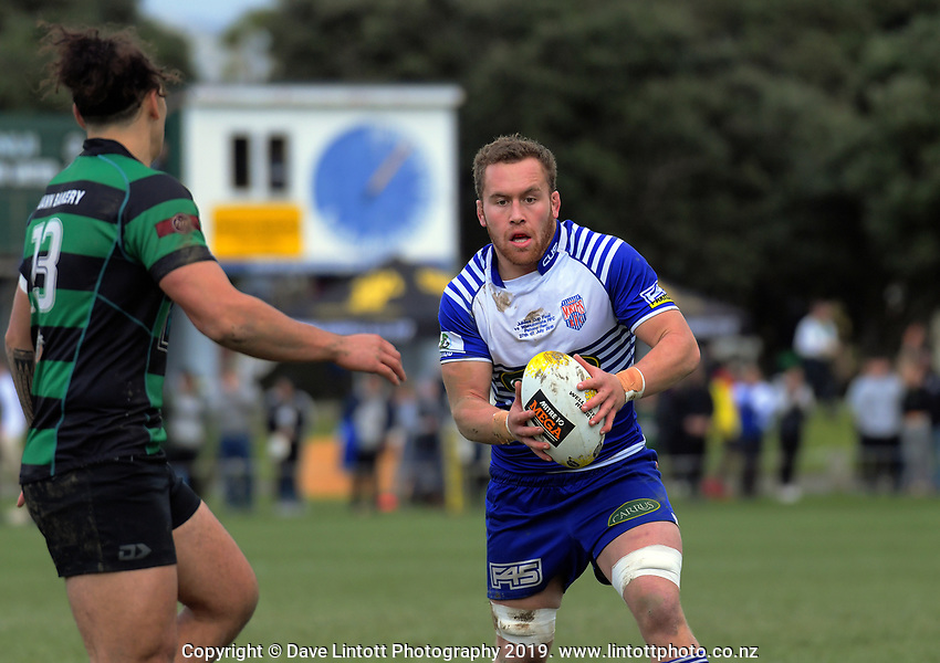 Action from the 2019 Wellington premier men's Jubilee Cup rugby final between Northern United and Wainuiomata at Petone Rec in Wellington, New Zealand on Saturday, 27 July 2019. Photo: Dave Lintott / lintottphoto.co.nz