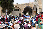 Palestinian Muslim worshipers attend Friday prayers durig the holy fasting month of Ramadan at al-Aqsa mosque compund, in Jerusalem's Old city, May 24, 2019. Photo by Abdalrahman Alami