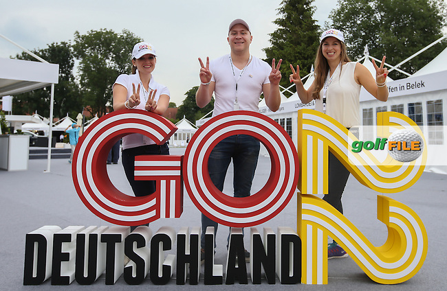 The 2022 German Ryder Cup candidacy team in the tented village ahead of Round Three of the 2015 BMW International Open at Golfclub Munchen Eichenried, Eichenried, Munich, Germany. 27/06/2015. Picture David Lloyd | www.golffile.ie