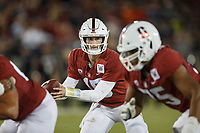 Stanford, CA - October 05, 2019: Davis Mills during the Stanford vs Washington football game Saturday night at Stanford Stadium.<br /> <br /> Stanford won 23-13.