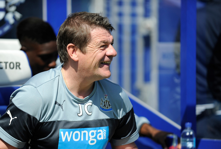 Newcastle United manager John Carver <br /> <br /> Photographer Ashley Western/CameraSport<br /> <br /> Football - Barclays Premiership - Queens Park Rangers v Newcastle United - Saturday 16th May 2015 - Loftus Road - London<br /> <br /> &copy; CameraSport - 43 Linden Ave. Countesthorpe. Leicester. England. LE8 5PG - Tel: +44 (0) 116 277 4147 - admin@camerasport.com - www.camerasport.com