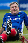 © Joel Goodman - 07973 332324 . 22/09/2013 . Brighton , UK . ED BALLS warms up ahead of Labour Party vs journalists football match . Day 1 of the Labour Party 's annual conference in Brighton . Photo credit : Joel Goodman