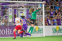 Orlando, FL - Saturday August 05, 2017: Alyssa Naeher during a regular season National Women's Soccer League (NWSL) match between the Orlando Pride and the Chicago Red Stars at Orlando City Stadium.