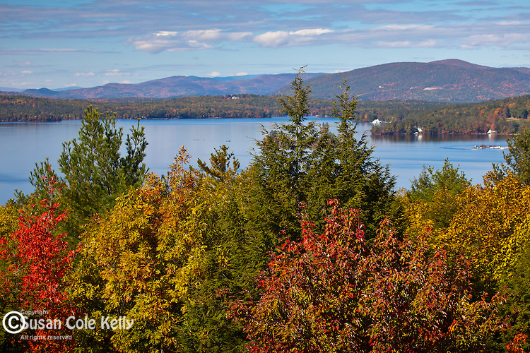View of Lake Winnipesaukee from Abenaki Tower, Wolfeborough, NH, USA