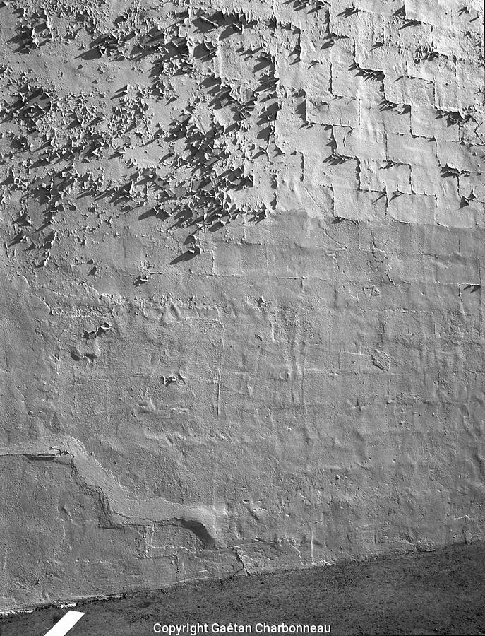Peeled paint on a wall