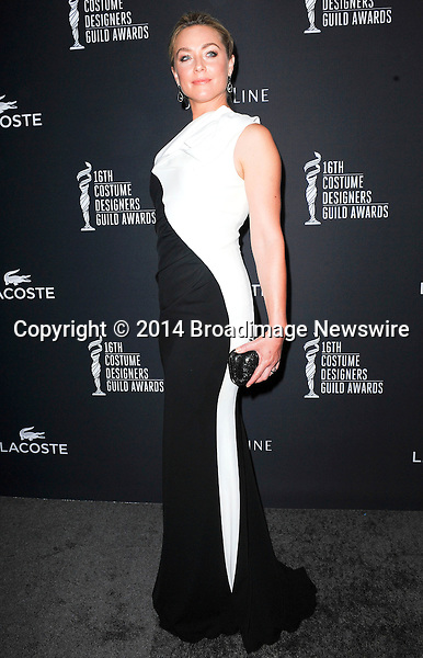 Pictured: Elisabeth Rohm<br /> Mandatory Credit &copy; Adhemar Sburlati/Broadimage<br /> The 16th Costume Designers Guild Awards<br /> <br /> 2/22/14, Los Angeles, California, United States of America<br /> <br /> Broadimage Newswire<br /> Los Angeles 1+  (310) 301-1027<br /> New York      1+  (646) 827-9134<br /> sales@broadimage.com<br /> http://www.broadimage.com