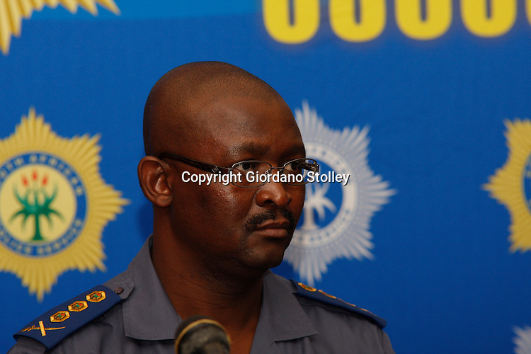 DURBAN - 7 February 2014 - Lt-Gen Elias Mawela  at a press conference in Durban where 1500 police station commanders attended a conference at Durban's Inkosi Albert Luthuli International Conference Centre. Mawela is the divisional commissioner for operational response services, and is therefore responsible for the police's Public Order Policing units which deal with unrest and riots. Picture: Allied Picture Press/APP