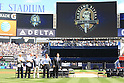 Hideki Matsui,<br /> SEPTEMBER 22, 2013 - MLB :<br /> Hideki Matsui attends the retirement ceremony of the Mariano Rivera of the New York Yankees before the Major League Baseball game against the San Francisco Giants at Yankee Stadium in The Bronx, New York, United States. (Photo by Thomas Anderson/AFLO) (JAPANESE NEWSPAPER OUT)