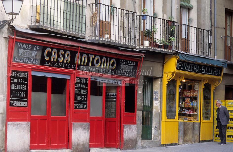 Europe/Espagne/Castille/Madrid : Casa Antonio - Calle de Latoneras - Café buvette