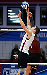 KENOSHA, WI - APRIL 28:  Springfield College setter Mike Neary puts a set during the Division III Men's Volleyball Championship held at the Tarble Athletic and Recreation Center on April 28, 2018 in Kenosha, Wisconsin. (Photo by Steve Woltmann/NCAA Photos via Getty Images)