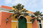 Colorfully painted houses in the historic colonial city of Old San Juan, Puerto Rico.