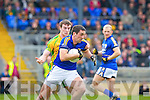 Anthony Maher goes past Donegal's Leo McLoone during their Allainz league clash in Fitzgerald Stadium on Sunday