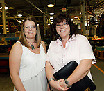 Cheshire, CT-24 August 2012-082412CM10-  Social Moments. Waterbury Button's open house to celebrate its 200th Anniversary.  From L-R Dawn McDermott and Kelly Raby from Kelly Services..   Christopher Massa Republican-American