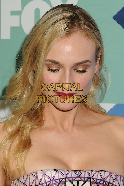 Diane Kruger<br /> Fox All-Star Summer 2013 TCA Party held at Soho House, West Hollywood, California, USA, 1st August 2013.<br /> portrait headshot strapless looking down eyeshadow makeup gold pink lipstick <br /> CAP/ADM/BP<br /> &copy;Byron Purvis/AdMedia/Capital Pictures