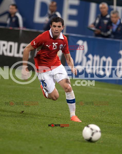 Eugenio Mena at the Ecuador vs Chile International Soccer friendly at Citifield in Queens, New York. August 15, 2012. &copy;&nbsp;mpi03/MediaPunch Inc. /NortePhoto.com<br /> <br /> **CREDITO*OBLIGATORIO** *No*Venta*A*Terceros*<br /> *No*Sale*So*third* ***No*Se*Permite*Hacer Archivo***No*Sale*So*third*