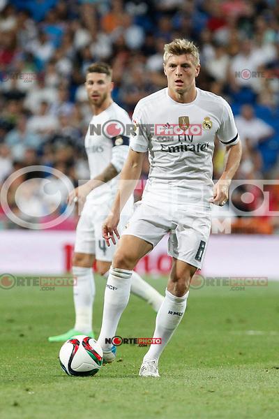 Real Madrid´s Kroos during Santiago Bernabeu Trophy match at Santiago Bernabeu stadium in Madrid, Spain. August 18, 2015. (ALTERPHOTOS/Victor Blanco)