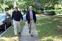 10/16/10 9:29:33 AM -- Springfield, PA<br />  -- Republican Congressional candidate Pat Meehan (R) and Tom McGarrigle campaign on the street October 16, 2010 in Springfield, Pennsylvania. Meehan faces incumbent Democrat Bryan Lentz in the Nov. 2 general election. --  Photo by William Thomas Cain/Cain Images