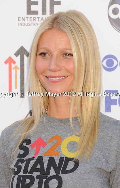 LOS ANGELES, CA - SEPTEMBER 07: Gwyneth Paltrow arrives at Stand Up To Cancer at The Shrine Auditorium on September 7, 2012 in Los Angeles, California.