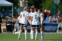Kansas City, MO - Saturday July 16, 2016: Megan Oyster, Estelle Johnson, Whitney Church, Caprice Dydasco during a regular season National Women's Soccer League (NWSL) match between FC Kansas City and the Washington Spirit at Swope Soccer Village.