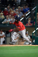 Pawtucket Red Sox Josh Tobias (15) at bat during an International League game against the Rochester Red Wings on June 28, 2019 at Frontier Field in Rochester, New York.  Pawtucket defeated Rochester 8-5.  (Mike Janes/Four Seam Images)
