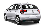 Car pictures of rear three quarter view of a 2014 Citroen C3 Seduction 5 Door Hatchback 2WD Angular Rear
