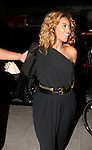 Recording Arist Beyonce  arrives to Moët & Chandon and Kelly Rowland debut the Rosé Lounge with an exclusive celebration for Kelly Rowland's new album Here I Am at The Standard Hotel, NY 7/26/11
