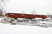 63904-03318 Bridgeton Covered Bridge in winter at Bridgeton, IN