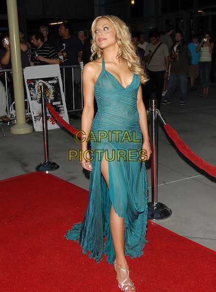 "BRITTANY MURPHY.""The Groomsmen"" World Premiere held at The Arclight Theatre in Hollywood, California, USA..July 12th, 2006.Ref: DVS.full length turquoise blue green sheer dress slit split.www.capitalpictures.com.sales@capitalpictures.com.Supplied By Capital PIctures"