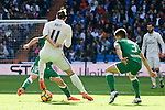 Real Madrid's player Gareth Bale and Leganes's  player Diego Rico Salguero and Unai Bustinza during a match of La Liga at Santiago Bernabeu Stadium in Madrid. November 06, Spain. 2016. (ALTERPHOTOS/BorjaB.Hojas)