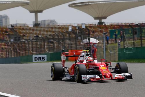 15.04.2016 Shanghai, China. F1 Grand Prix of China, Practise day.<br /> Kiaikkonen of Ferarri F1 team at practise