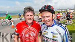 Tommy Long, Dingle and Liam Maguire, Killarney in Waterville at the Ring of Kerry cycle on Saturday.