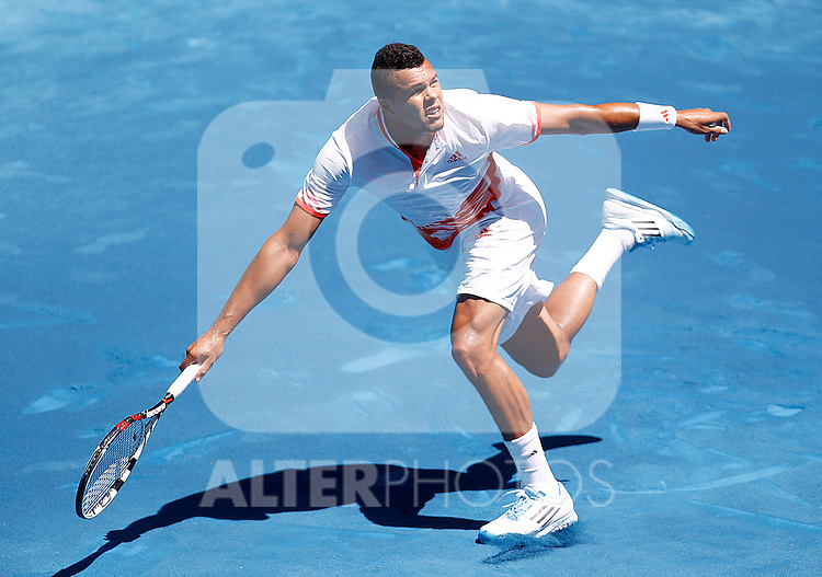 Jo-Wilfried Tsonga during Madrid Open Tennis 2012 Match.May, 10, 2012(ALTERPHOTOS/ALFAQUI/Acero)