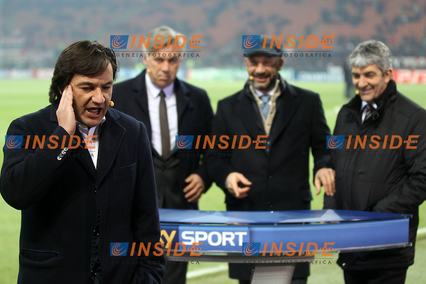 "Fabio Caressa Sky..Milano 23/11/2011 Stadio ""S.Siro""..Football / Calcio Champions League 2011/2012..Milan vs Barcellona..Foto Paolo Nucci Insidefoto"