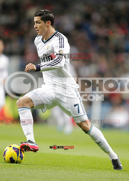 Real Madrid's Cristiano Ronaldo during La Liga match. December 16, 2012. (ALTERPHOTOS/Alvaro Hernandez)