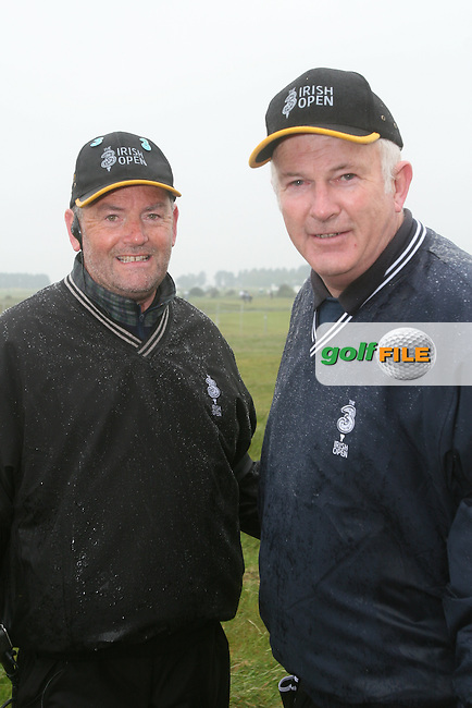 Michael O'Brien and Steve at the 3 Irish Open Golf in Baltray...Photo NEWSFILE/Jenny Matthews.(Photo credit should read Jenny Matthews/NEWSFILE)....This Picture has been sent you under the condtions enclosed by:.Newsfile Ltd..The Studio,.Millmount Abbey,.Drogheda,.Co Meath..Ireland..Tel: +353(0)41-9871240.Fax: +353(0)41-9871260.GSM: +353(0)86-2500958.email: pictures@newsfile.ie.www.newsfile.ie.FTP: 193.120.102.198.