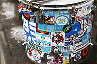 A general view of the drum as fans travel to Doncaster Rovers ahead of the Sky Bet League 1 match between Doncaster Rovers and Oldham Athletic at the Keepmoat Stadium, Doncaster, England on 16 December 2017. Photo by Juel Miah / PRiME Media Images.