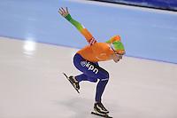 SCHAATSEN: HEERENVEEN: IJsstadion Thialf, 17-11-2012, Essent ISU World Cup, Season 2012-2013, Men 1000 meter Division A, Sjoerd de Vries (NED), ©foto Martin de Jong