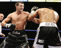 Carl Froch beats Robin Reid, Reid corner retired the fighter in the corner at the end of the 5th round for the British super middleweight title at the Nottingham Ice Arena 09/11/07 - promoted by Hennessy Sports MANDATORY CREDIT: chris royle