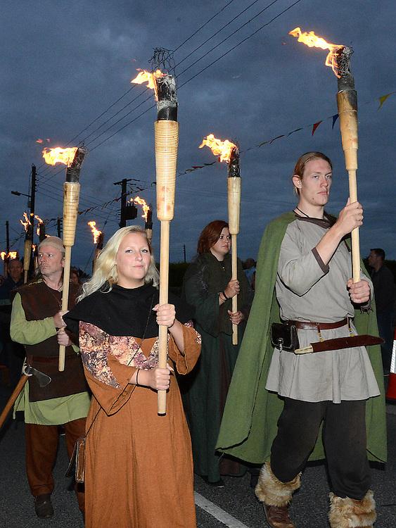 The parade at the Viking festival at Annagassan. Photo:Colin Bell/pressphotos.ie