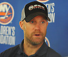 Jason Chimera of the New York Islanders speaks with reporters at the Long Island Marriott in Uniondale on Thursday, Sept. 22, 2016.