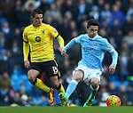 Ashley Westwood of Aston Villa and Garcia Alonso of Manchester City - Barclay's Premier League - Manchester City vs Aston Villa - Etihad Stadium - Manchester - 05/03/2016 Pic Philip Oldham/SportImage