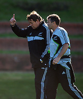 All Blacks assistant coaches Steve Hansen and Wayne Smith. All Blacks Training Session at Rugby League Park, Newtown, Wellington. Thursday 17 September 2009. Photo: Dave Lintott/lintottphoto.co.nz