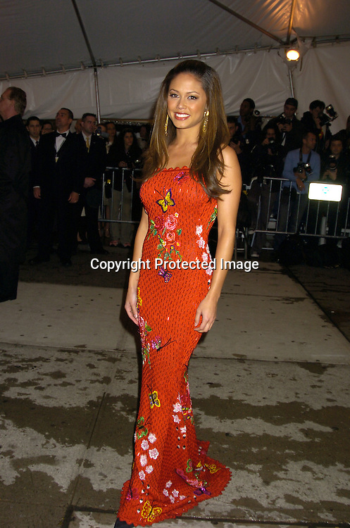 Vanessa Minnillo ..at The Metropolitan Museum of Art's Costume Institute Gala ..celebrating Chanel on May 2, 2005 in New York City.    Photo by Robin Platzer, Twin Images