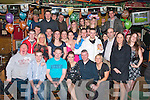 29 and a bit.------------.Josephine Cronin(seated 3rd from the Rt)from Causeway,had her 30th birthday bash in the Huddle bar,Strand Rd Tralee last Saturday night surrounded by many friends and family..