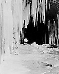 Hopedale OH:  View of the entrance of the Spellacy Tunnel during the winter - February 1904. The Pittsburgh, Toledo and Western Railroad company, owned by the famous George J. Gould,  hired Brady Stewart to document the track and tunnel construction between Hopedale Ohio and downtown Pittsburgh.