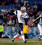 18 November 2007: New England Patriots punter Chris Hanson in action against the Buffalo Bills at Ralph Wilson Stadium in Orchard Park, NY. The Patriots defeated the Bills 56-10 in their second meeting of the season...Mandatory Photo Credit: Ed Wolfstein Photo