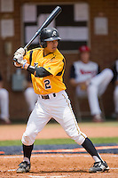 Gregory Fujii #2 of the VCU Rams at bat against the St. John's Red Storm at the Charlottesville Regional of the 2010 College World Series at Davenport Field on June 5, 2010, in Charlottesville, Virginia.  The Red Storm defeated the Rams 8-6.  Photo by Brian Westerholt / Four Seam Images